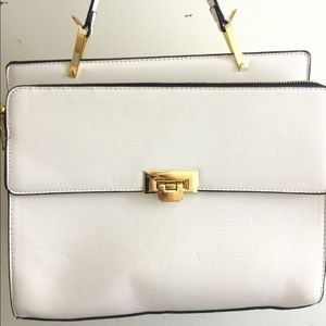 White One Handle Handbag